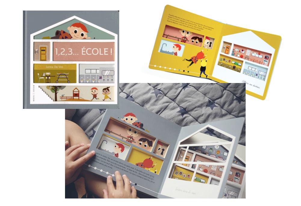 Idée Cadeau Noël Enfant 3 ans 1, 2, 3 ECOLE Lorea De Vos Livre Ecole Maternelle